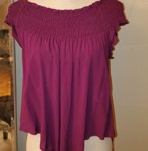 plum Express blouse